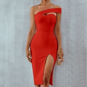 Dresses & Skirts - Bodycon Bandage off the Shoulder Red Party Dress